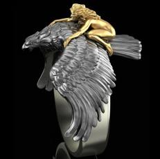 Beautiful, Eagles, 18k gold, animalring