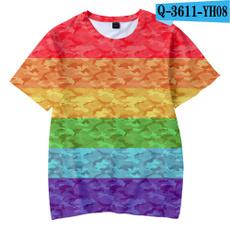 Clothes, rainbow, Funny T Shirt, Cotton Shirt