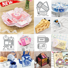 Box, papercarddecoration, diesscrapbooking, Gifts
