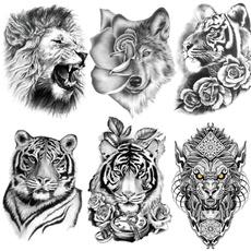 tattoo, art, waterprooftattoosticker, King