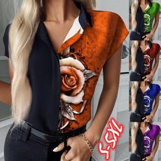 Summer, Fashion, Floral print, Shirt