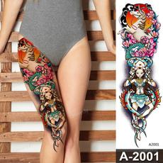 tattoo, Flowers, temporarytattoosticker, fish