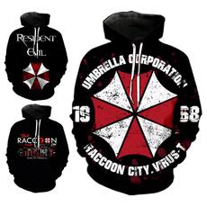 3D hoodies, Fashion, Umbrella, pullover hoodie