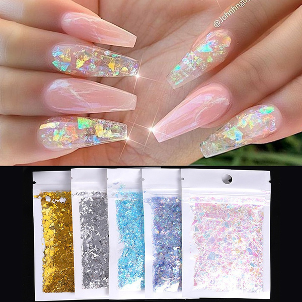 Nails, nail stickers, Holographic, art