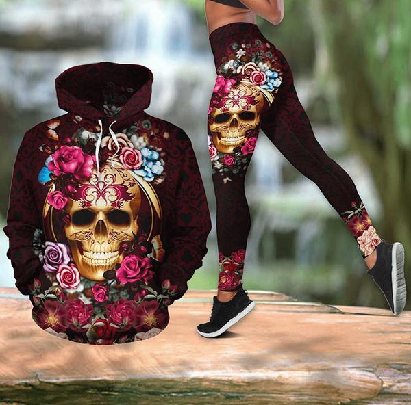 Leggings, Fashion, Yoga, skull