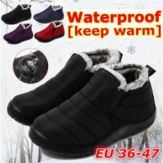 casual shoes, ankle boots, Plus Size, fur