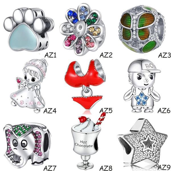 Charm Bracelet, beadsforjewerlymaking, Fashion, 925 sterling silver