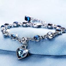 Charm Bracelet, Heart, Fashion, Austrian