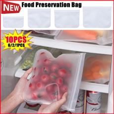 freshkeepingbag, foodfreshkeepingbag, Silicone, Storage