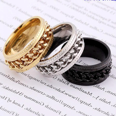 Couple Rings, Steel, rotatablering, Fashion