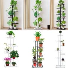 flowerpotstand, flowerdisplayshelf, Plants, metalplantshelf