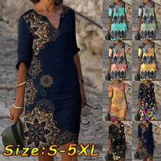Summer, Plus Size, sleeve dress, Sleeve