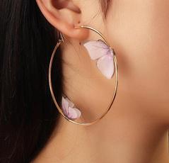 butterfly, Hoop Earring, Jewelry, gold