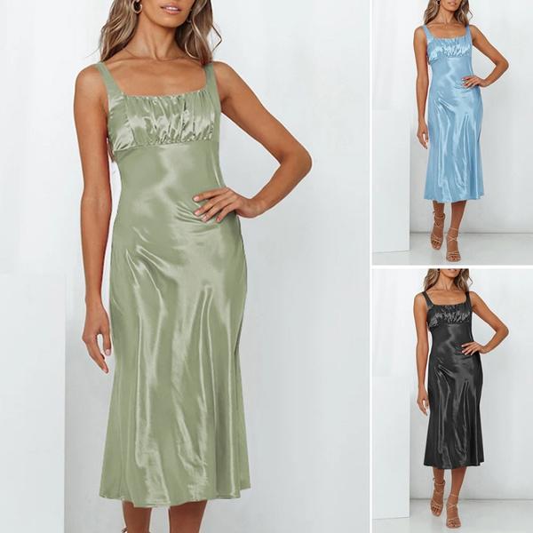 Summer, dressesforwomen, vest dress, long dress