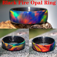 blackfireopalring, rainbow, Fashion, Jewelry