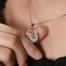 925 sterling silver necklace, Sterling, circlependant, Chain