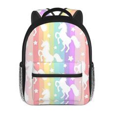 cute, School, rainbow, Backpacks