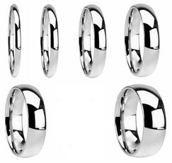 8MM, polished, wedding ring, girlsring