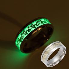 glowingring, ringsformen, Stainless Steel, glowinthedarkring