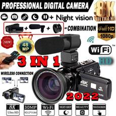 Microphone, vlogcamera, Digital Cameras, 1080pcamcorder