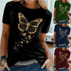 Tops & Tees, Shorts, Butterflies, Shirt