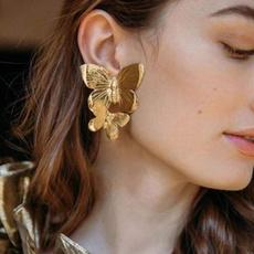 butterfly, Hoop Earring, Dangle Earring, Jewelry