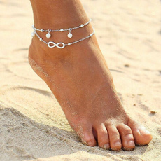 infinity bracelet, Sterling, ankletchain, Chain