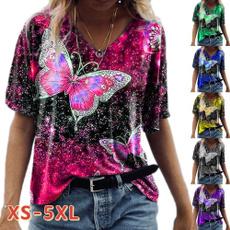 butterflyprint, shirtsforwomen, Plus Size, butterfly