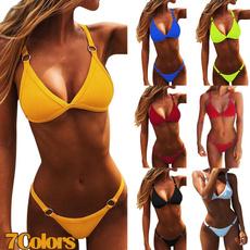 vneckswimsuit, Fashion, Triangles, Summer