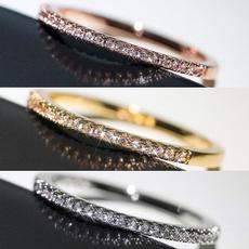 Sterling, DIAMOND, wedding ring, gold