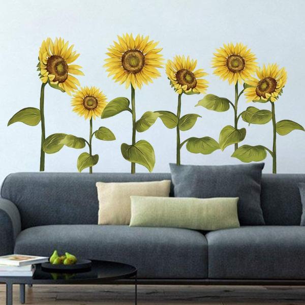Flowers, art, Garden, Sunflowers