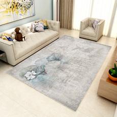 Gray, Flowers, Mats, Home & Living