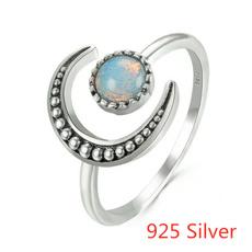 Sterling, crystal ring, Star, wedding ring