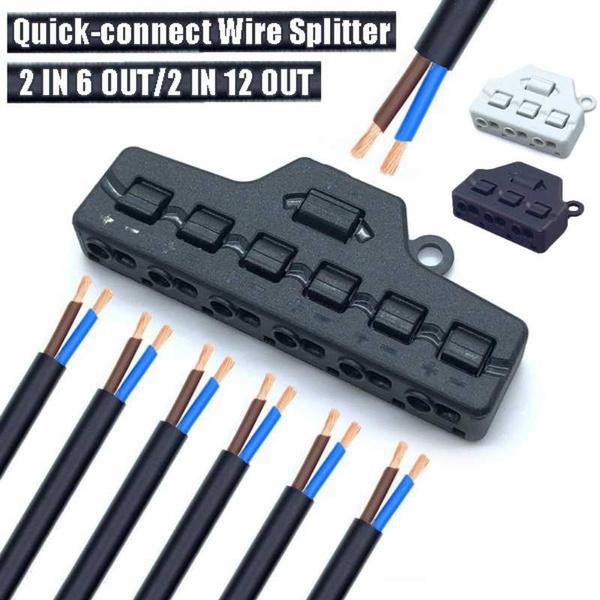 led, ledlightrapidsplitter, Adapter, quickpressterminalblock