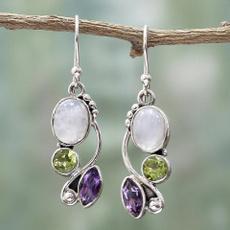delicateearring, Gemstone Earrings, gold, Earring