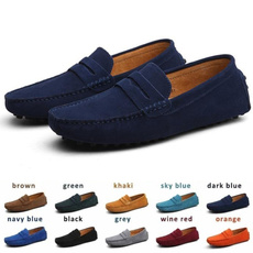 Flats, Fashion, casual shoes for men, leather