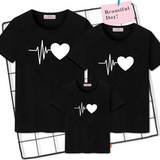 Clothes, letter print, mothersonoutfit, short sleeves