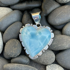 Sterling, Heart, Turquoise, sapphirependant