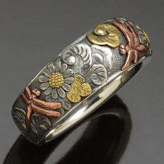 Sterling, dragon fly, Engagement, Rose Gold Ring