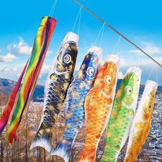 Colorful, yardgardenoutdoorliving, flyingflag, fish