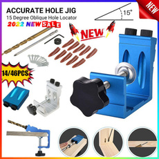 Pocket, drillbittool, Aluminum, pocketholejig