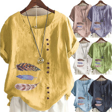 Summer, Plus Size, contrastingtop, casual shirt