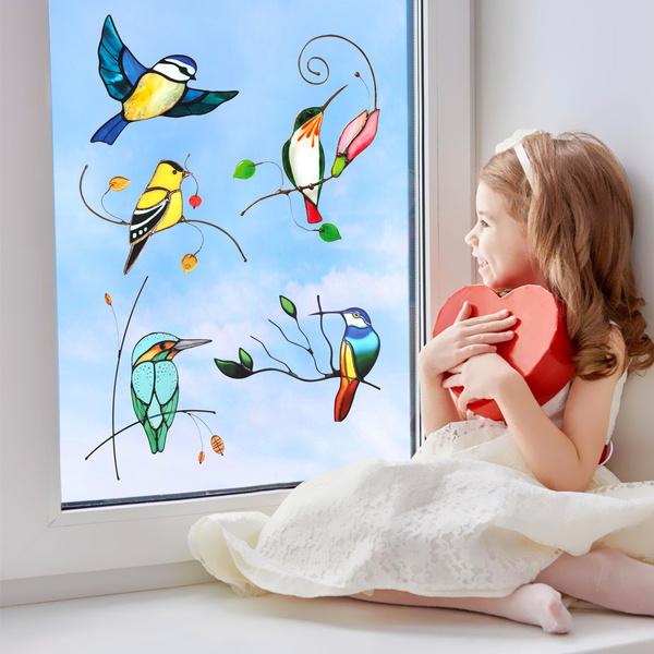 windowdecal, springwindowcling, stickerpackbrand, hummingbirdsticker