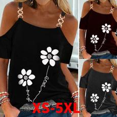 Summer, Plus Size, Women's Casual Tops, slingtshirt