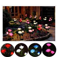 Lawn, Flowers, Garden, solarenergy