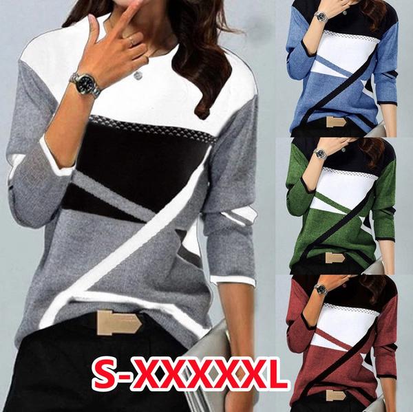 women pullover, blouse, Plus Size, Winter