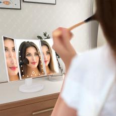 Espejos de maquillaje, Touch Screen, led, Belleza
