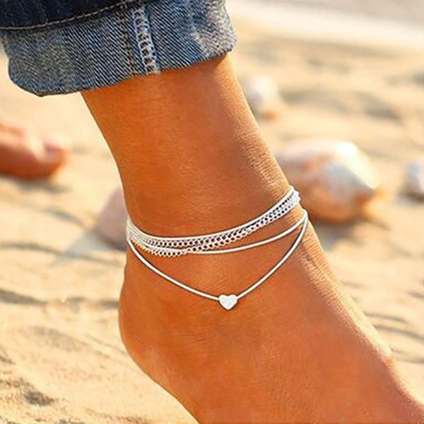 Sterling, Heart, 925 sterling silver, Anklets