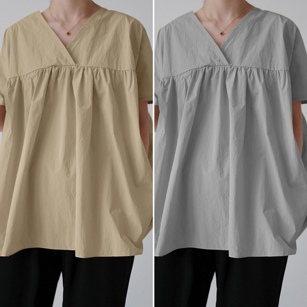 shirtsforwomen, Summer, Plus Size, Women Blouse