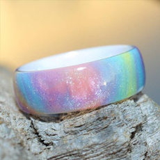 Blues, rainbow, Fashion, wedding ring